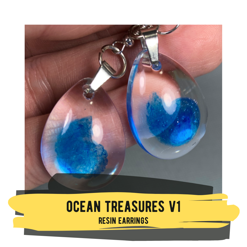 Ocean Treasures V1, Resin Earrings