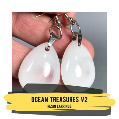 Ocean Treasures V2, Resin Earrings