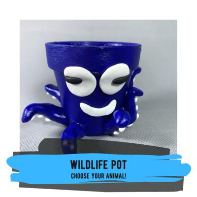 Wildlife Pot - Shark, Octopus, or Your Own Custom Animal!