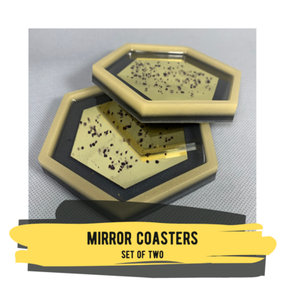 Mirror Coasters, Set of 2 Coasters