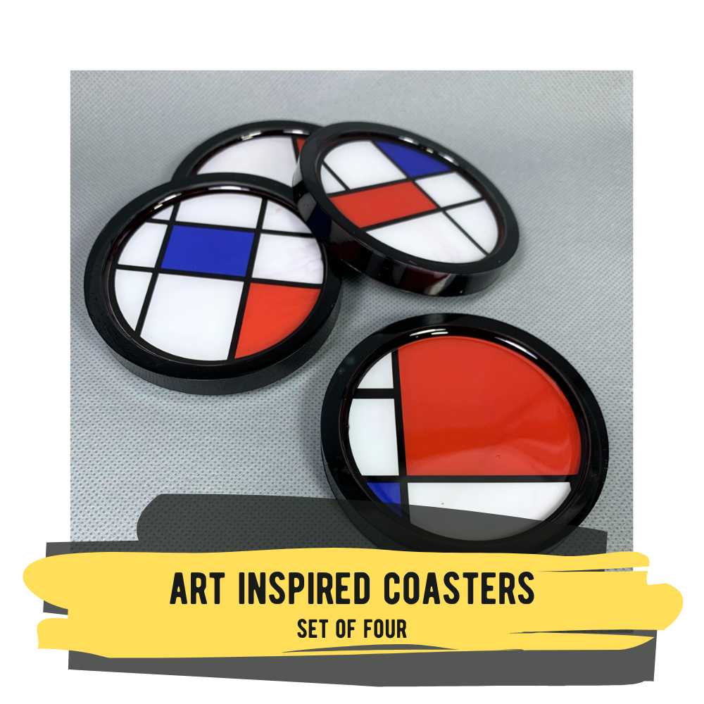 Art Inspired Coasters, Set of Four