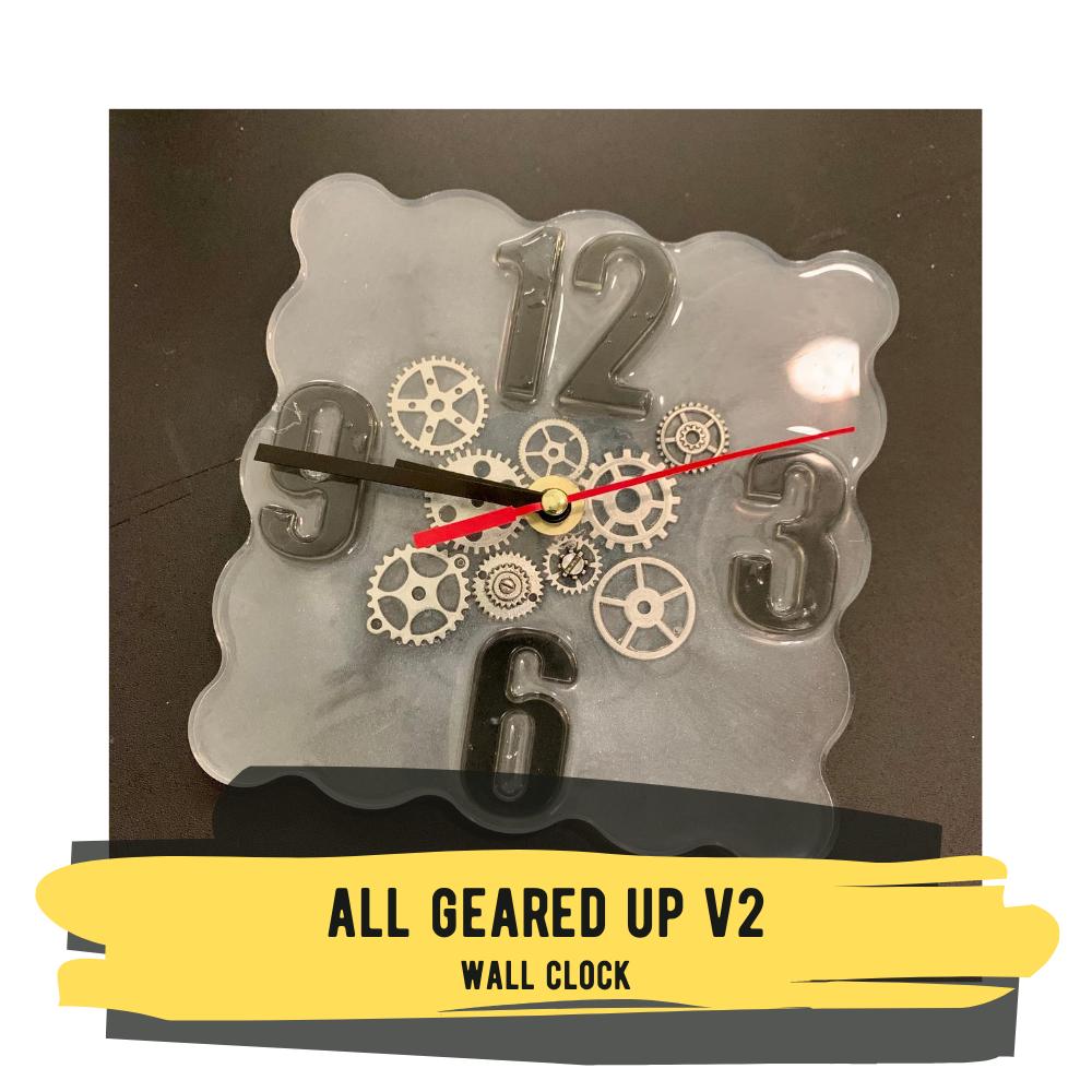 """All Geared Up V2"" Wall Clock"