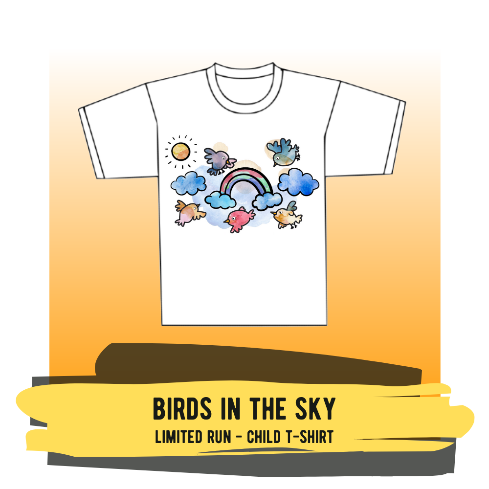 "Child T-shirt - ""Birds In The Sky"""