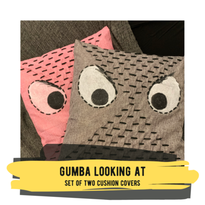 Gumba Looking At - Set of Two Cushion Covers