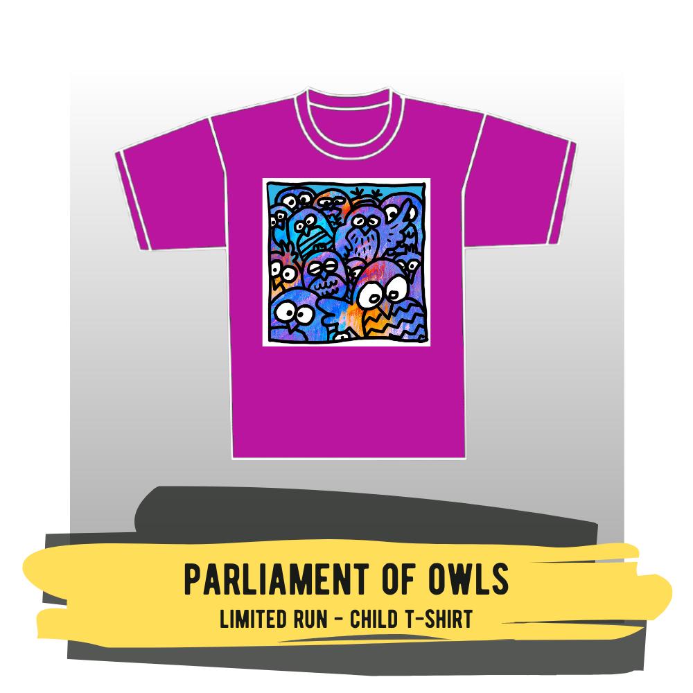 "Child T-shirt - ""Parliament of Owls"""