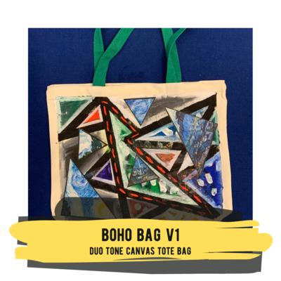 Boho Bag v1 - Duo Tone Canvas Tote Bag