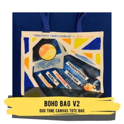 Boho Bag v2 - Duo Tone Canvas Tote Bag