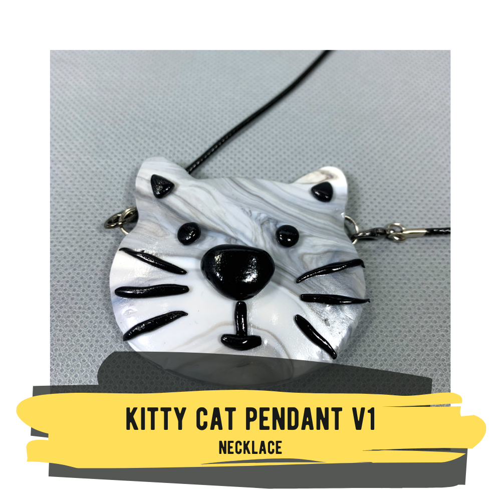 Kitty Cat Pendant V1, Necklace