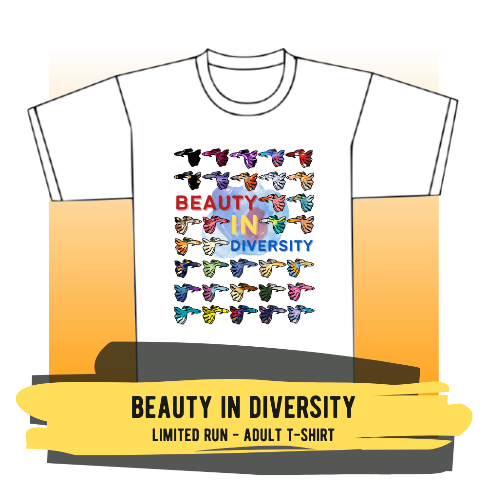 """Adult T-shirt - """"Beauty in Diversity"""""""