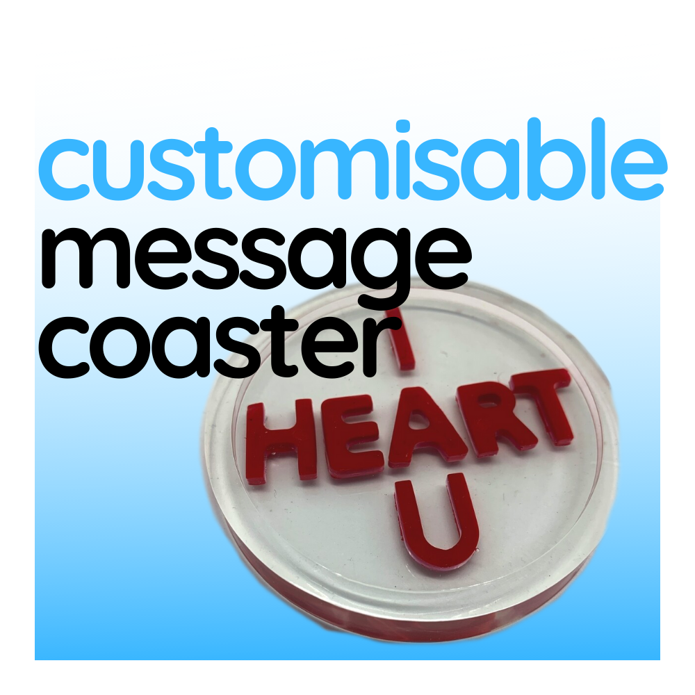 Customisable Message Coaster, sold individually