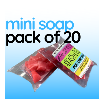 Mini Soap - One Pack of 20 Hearts