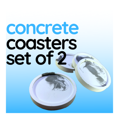 Concrete Coasters, Set of 2