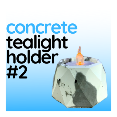 Concrete Tealight Holder (Design #2) with Raw Finish