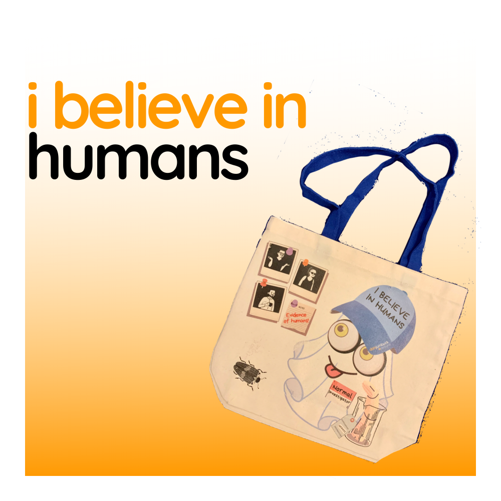 I Believe In Humans - Duo Tone Canvas Tote Bag