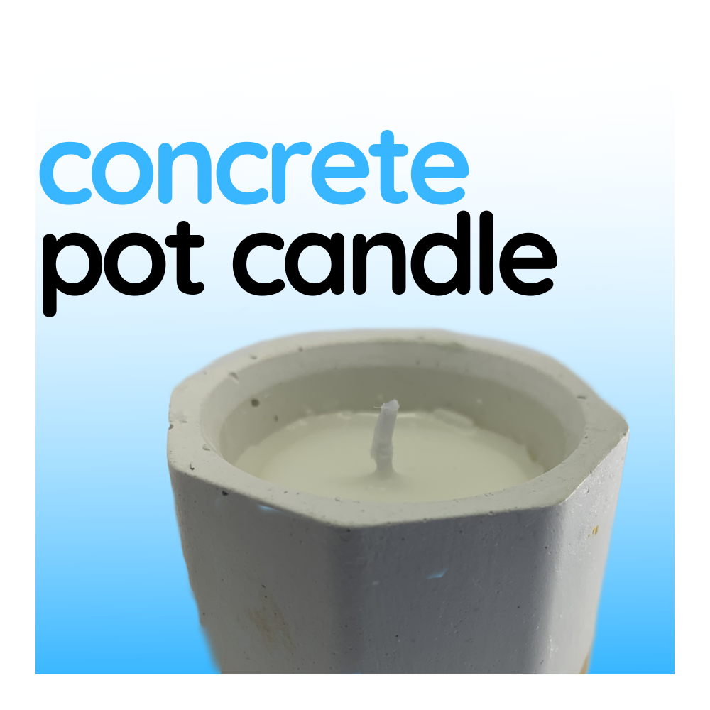 Concrete Pot Candle - Raw Finish