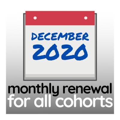 Programme Renewal for December 2020 - All Cohorts