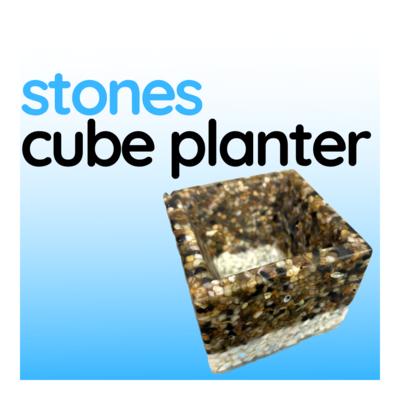 Stones Cube Planter