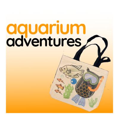 Aquarium Adventures - Duo Tone Canvas Tote Bag