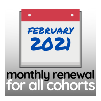 Programme Renewal for February 2021 - All Cohorts