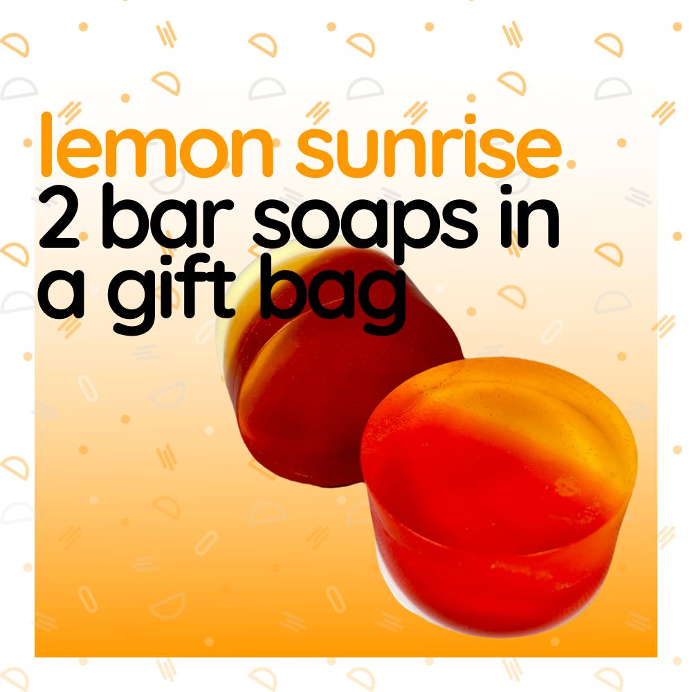 Lemon Sunrise - Bar Soap Gift Bag, Set of Two