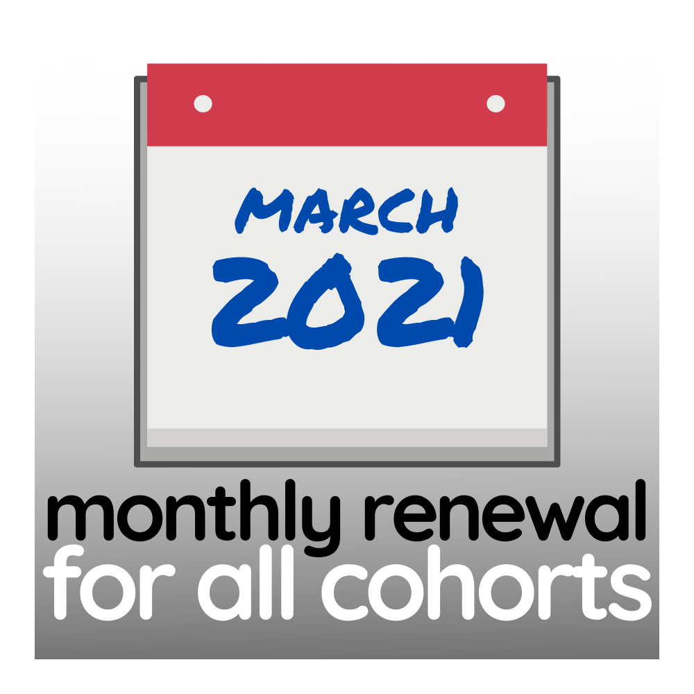 Programme Renewal for March 2021 - All Cohorts
