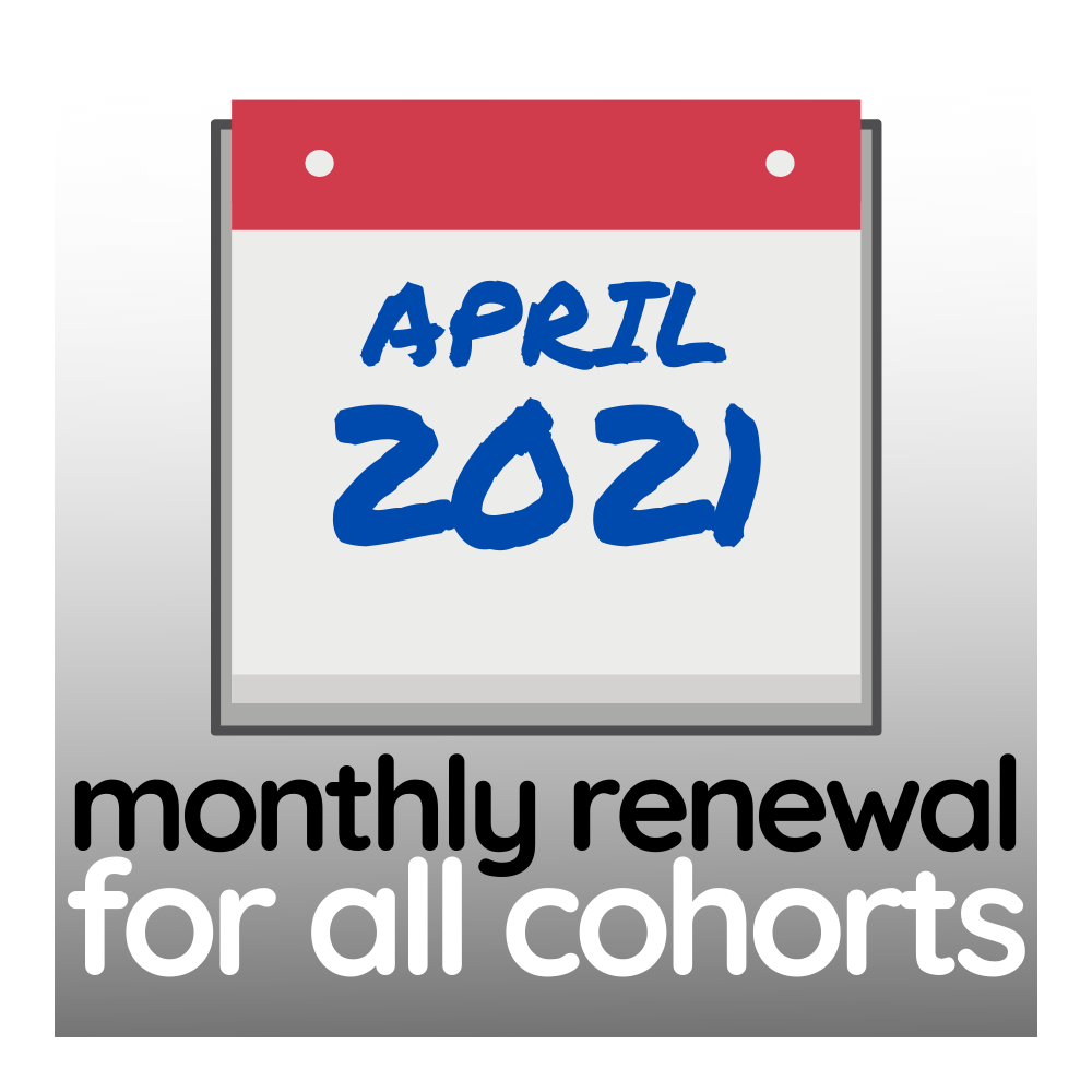 Programme Renewal for April 2021 - All Cohorts