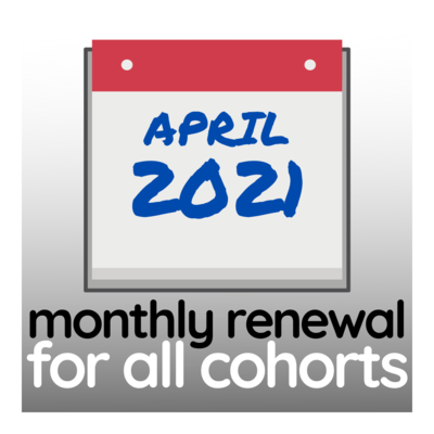 Programme Renewal for April 2021 - All Cohorts
