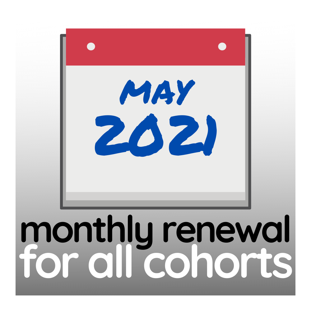 Programme Renewal for May 2021 - All Cohorts