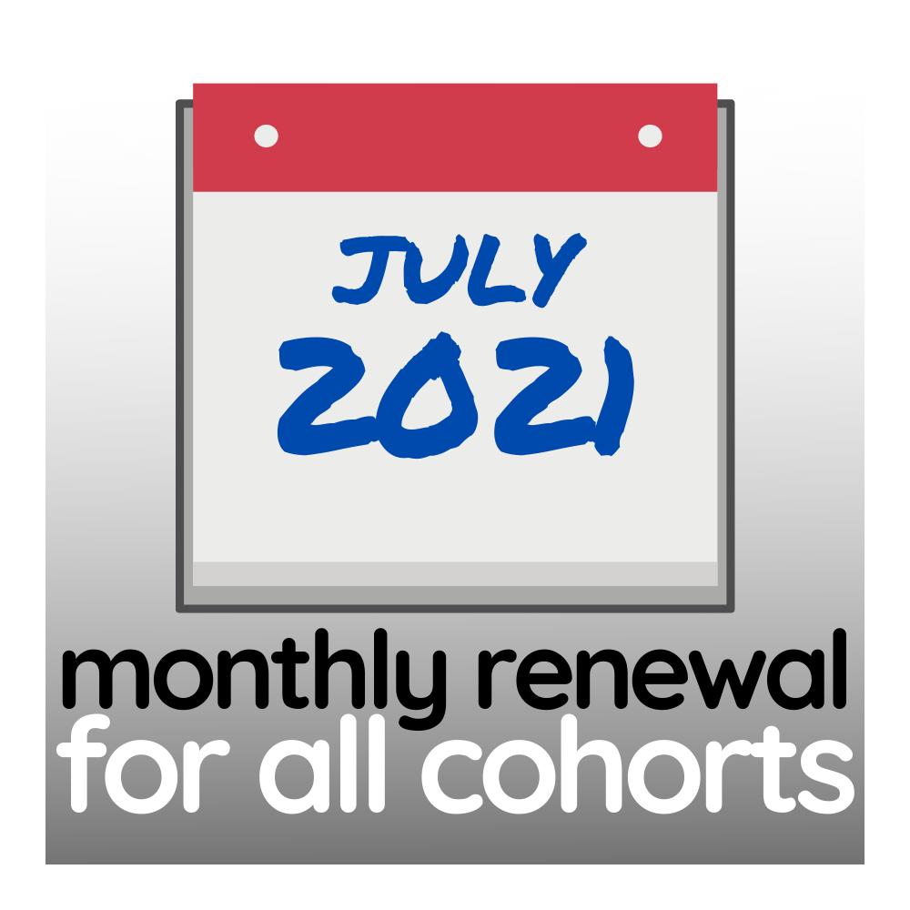 Membership Renewal for July 2021 - All Cohorts