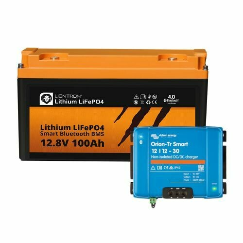 Booster Paket - LIONTRON LiFePO4 12,8V 100Ah / 150Ah + Victron Orion-Tr Smart 12/12-30A Ladebooster