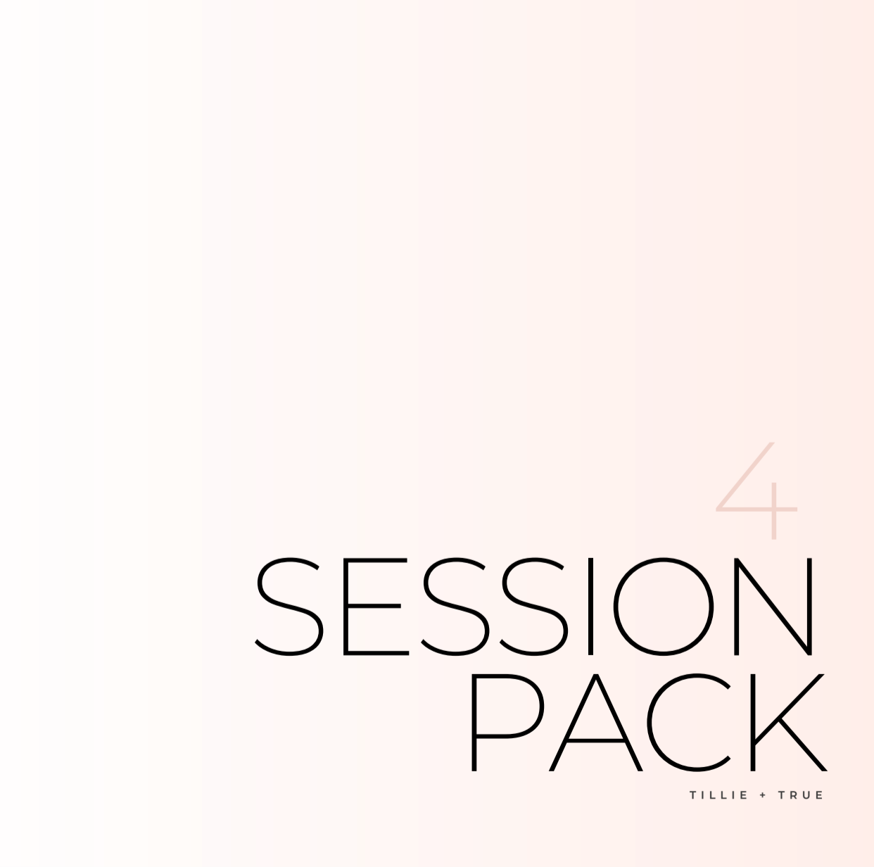 4 Session Pack ($95/Session)