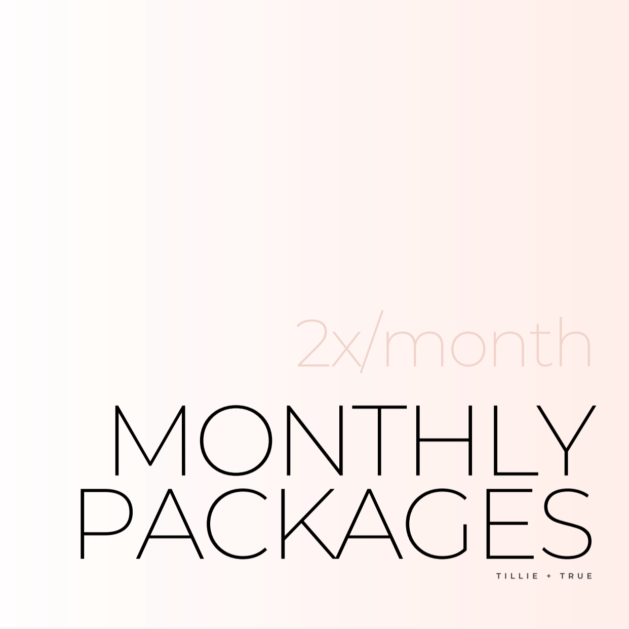 Monthly Packages: 2x/Month ($85/Session)
