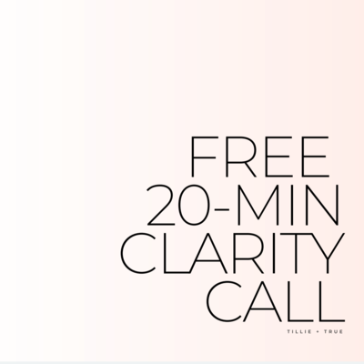 Free 20-Minute Clarity Call