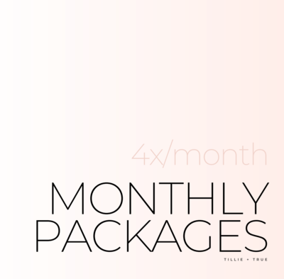 Monthly Packages: 4x/Month ($80/Session)