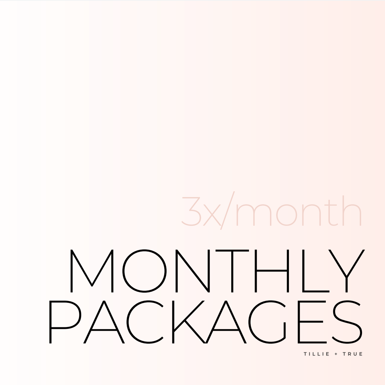 Monthly Packages: 3x/Month ($82.50/Session)