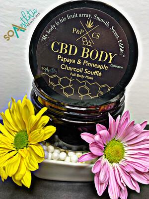Papaya and Pinneaple Charcoil Souffle CBD BODY
