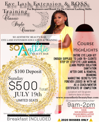 Private Lash Class Full Payment