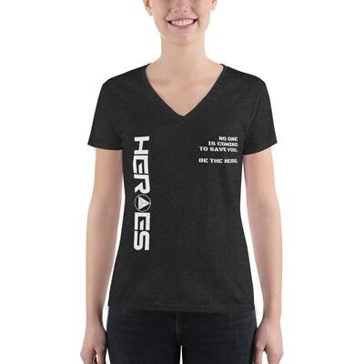 Women's Fashion Deep V-neck Tee
