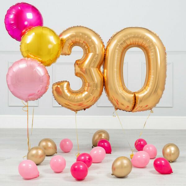 Golden Jumbo Number Balloon