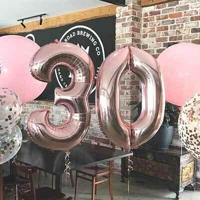Rose Gold Jumbo Number Balloon