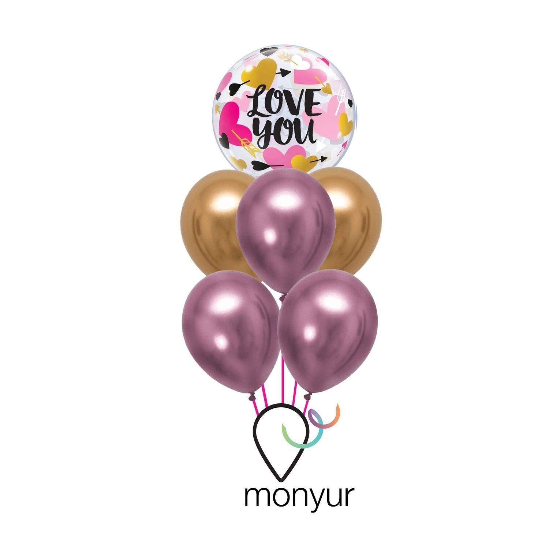 Love You Bouquet de Globos