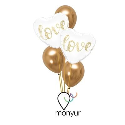Love Hearts Balloon Bouquet