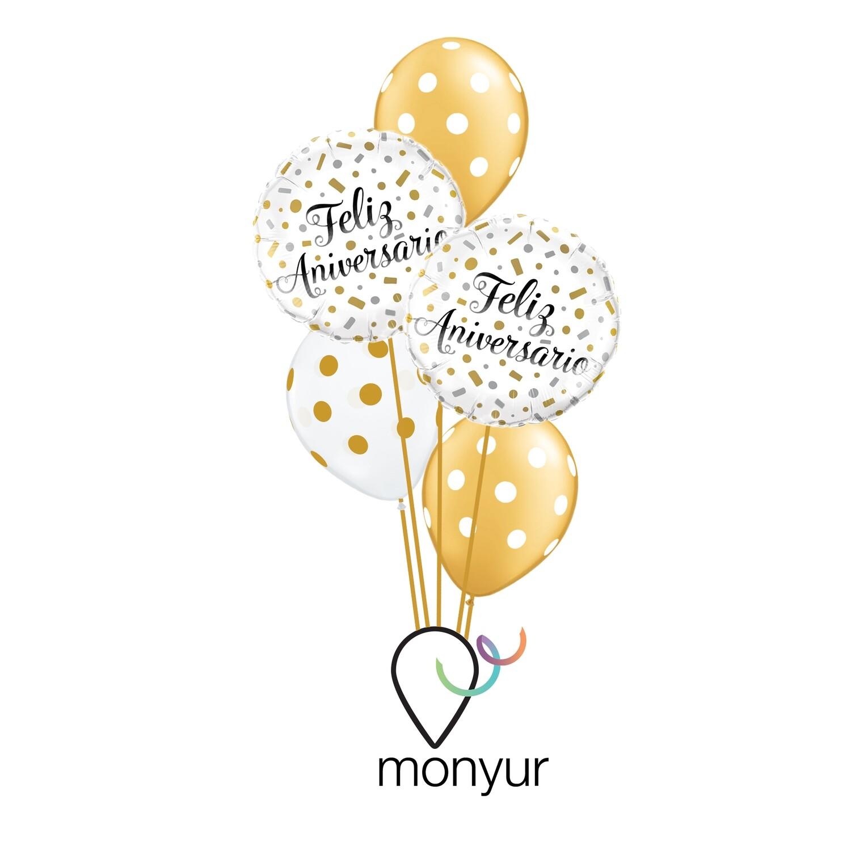 Feliz Aniversario Bouquet de Globos