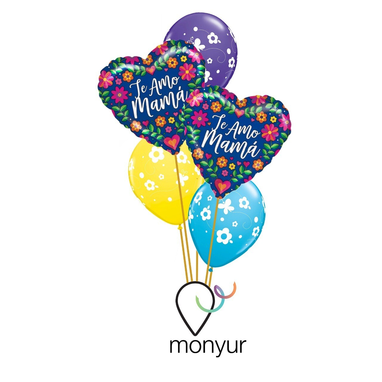 """""""Te amo Mamá"""" Balloon Bouquet"""