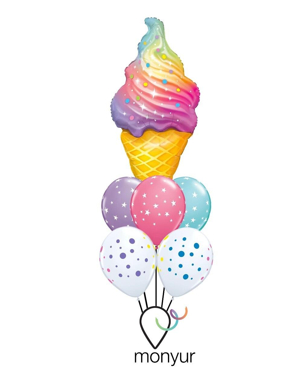 Ice Cream Bouquet de Globos