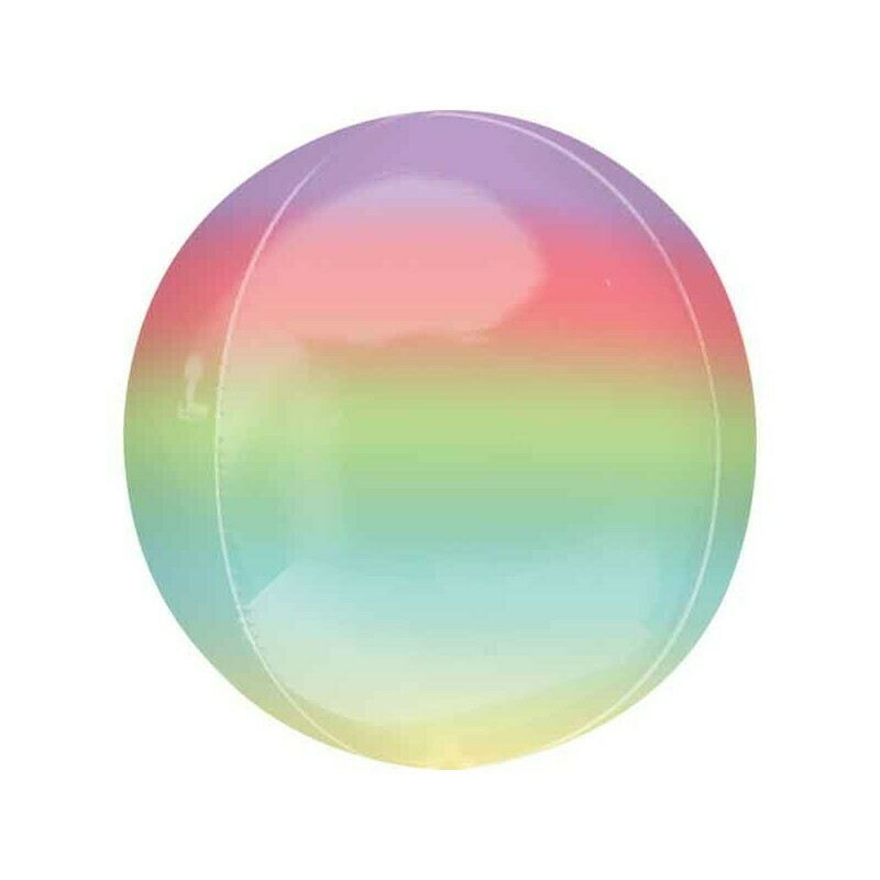 "Globo Orbz Rainbow 15"" con Helio"