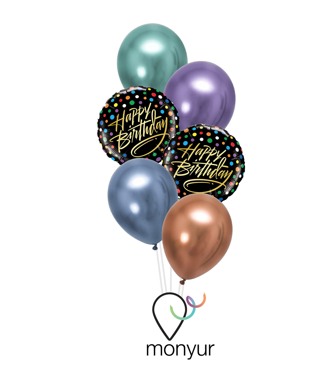 Happy Birthday Dots Balloon Bouquet
