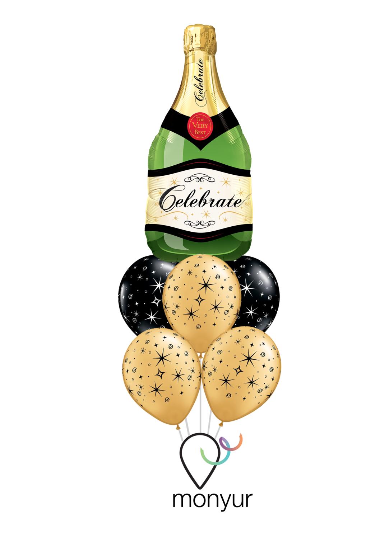 Champagne Bouquet de Globos