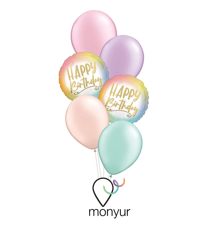 Ombré Birthday Balloon Bouquet