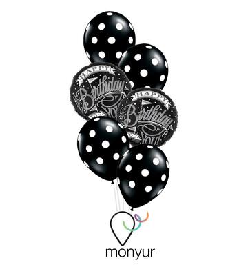 Chalkboard Birthday Balloon Bouquet